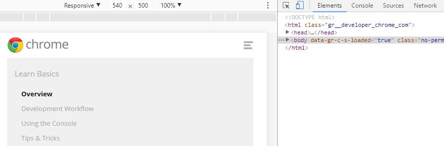 ابزارهای توسعه دهنده Chrome