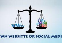 وب سایت یا رسانه های اجتماعی