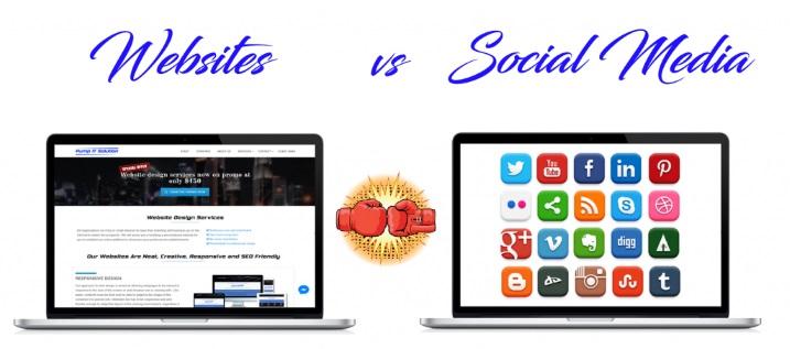وب سایت در مقابل رسانه های اجتماعی